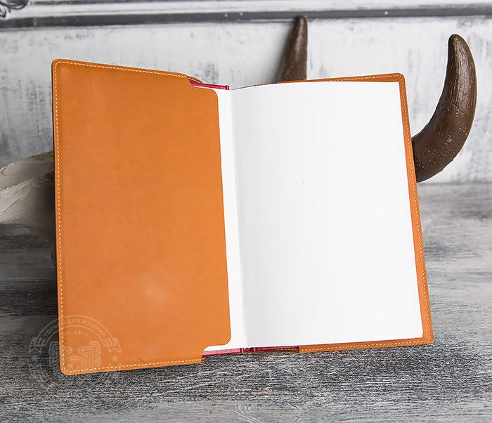 BY05-10-01 Кожаный подарочный ежедневник «Планы и Начинания» (А5) фото 07