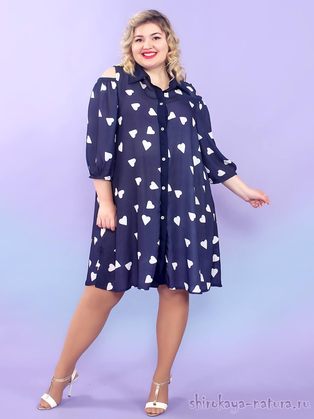 Платье-рубашка 72 размера