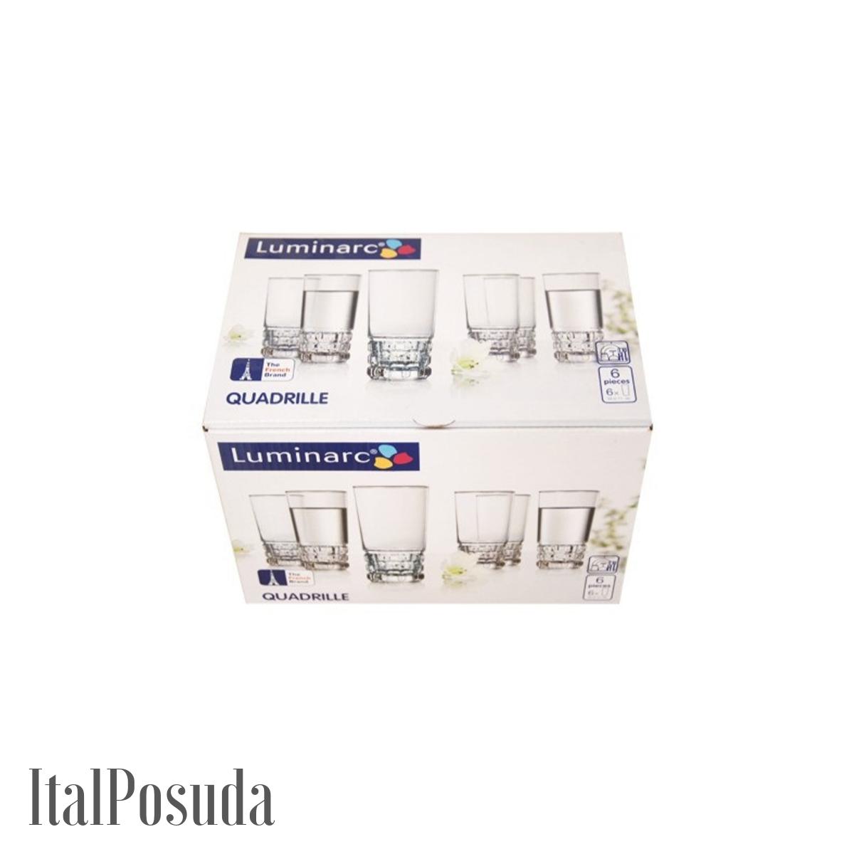 Набор стаканов Luminarc Quadrille (Кадриль), 6 шт P4789