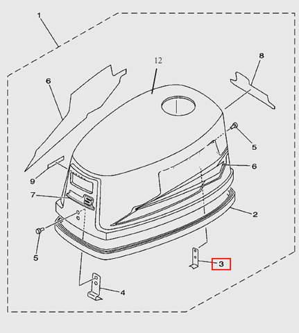 Держатель для лодочного мотора T5 Sea-PRO (1-3)