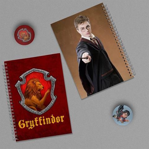 Гарри Поттер: набор из 2 тетрадей и 2 значков