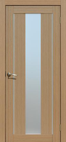 Дверь La Stella 207, стекло матовое, цвет тиковое дерево, остекленная