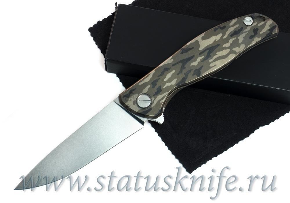 Нож Широгоров Flipper 95 Камуфляж S90V насечки подшипники