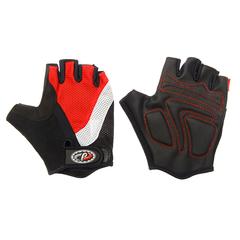 Велоперчатки JAFFSON SCG 46-0210 (чёрный/белый/красный)