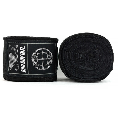 Бинты Bad Boy Combat Premium Hand Wraps Black 5m