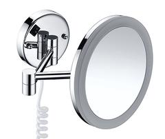 Косметическое зеркало WasserKRAFT K-1004 с LED-подсветкой, с 3-х кратным увеличением