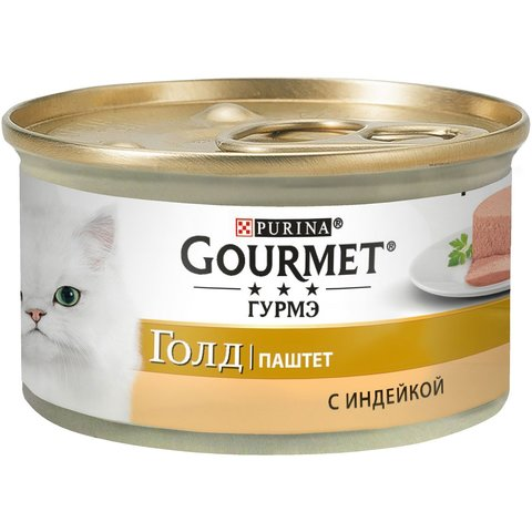 Gourmet Gold консервы для кошек паштет с индейкой 85 г