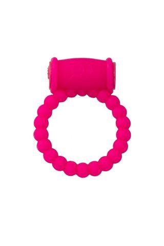 Розовое виброкольцо на пенис A-toys из силикона