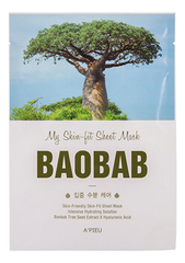 Тканевая маска с экстрактом баобаба My Skin-Fit Sheet Mask Baobab 25мл
