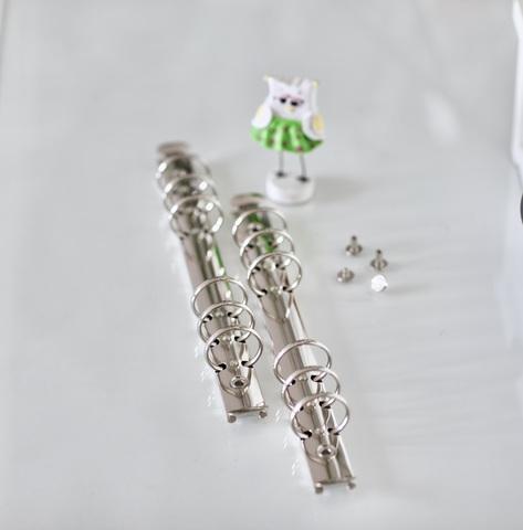 Кольцевой механизм на 6-ти кольцах, А5, с винтовым креплением -Серебро