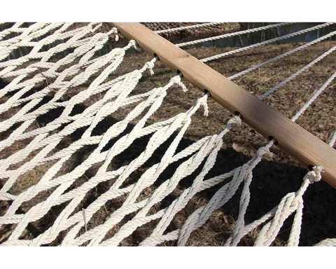 Гамак плетеный в две веревки белый RGP-1