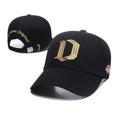 Кепка Dickies (Бейсболка) черная с вышитым золотым логотипом