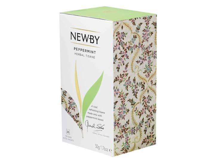 Чай травяной в пакетиках Newby Peppermint, 25 пак/уп