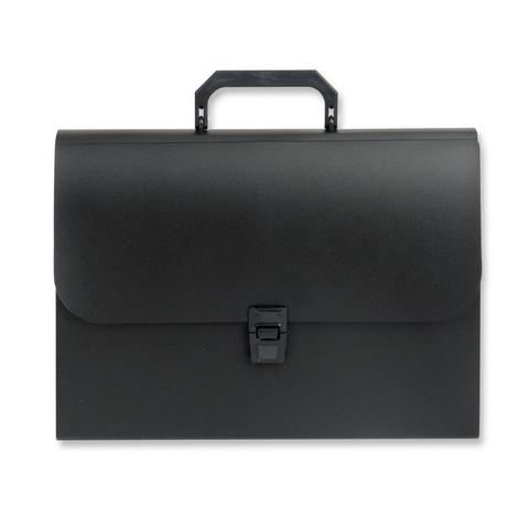 Папка-портфель Attache пластиковая А4 черная (303x216 мм, 12 отделений)