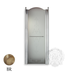 Душевая дверь Migliore Diadema ML.DDM-22.581.TR.BR 80xH195 см, стекло прозрачное/декор R (DX)