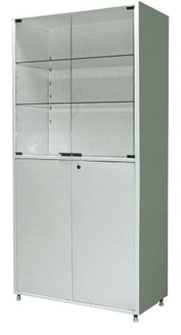 Шкаф металлический двухсекционный двухдверный МСК - 648.02 - фото