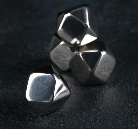 Набор камней для виски 2×2 см, нержавеющая сталь, 4 шт