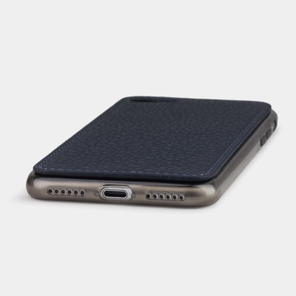 Чехол-накладка для iPhone 8/SE из натуральной кожи теленка, цвета синий мат
