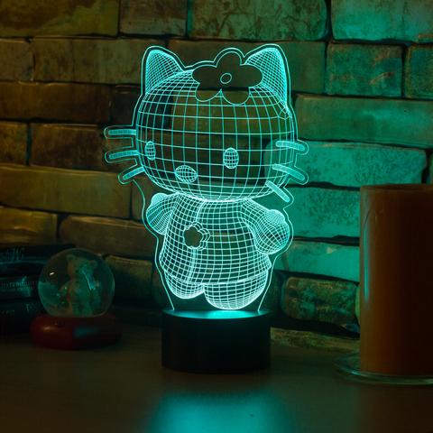 3D светильник Hello Kitty 3D