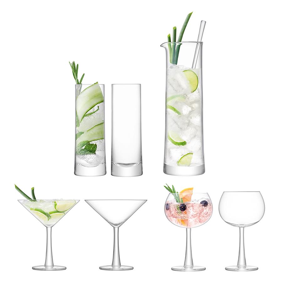 Набор для коктейлей Gin большой набор трубочек для коктейлей кристалл с изгибом 250 шт