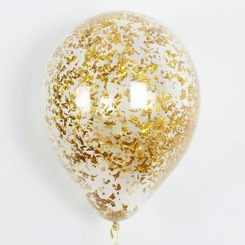 Шары с конфетти золото крошка