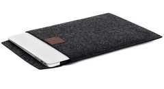 Чехол-конверт для Macbook темно-серый