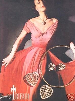 Стильная брошь «ПЛЕН СЕРДЦА» от Trifari, 1956 год