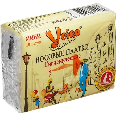 Носовые платочки бумажные Veiro 3-слойные (10 пачек по 10 платков)