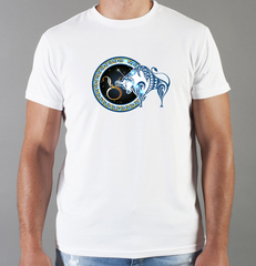 Футболка с принтом Знаки Зодиака, Телец (Гороскоп, horoscope) белая 0078