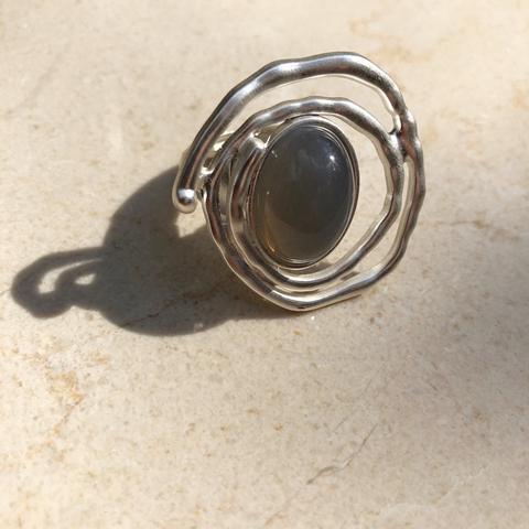 Кольцо Сента, серебряный цвет
