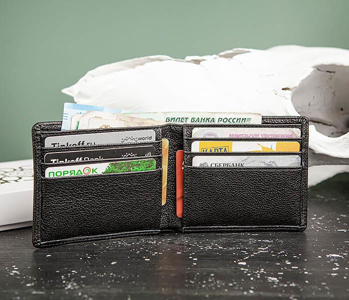 WL320-1 Классическое мужcкое портмоне для карт и купюр, «Santini» фото 06