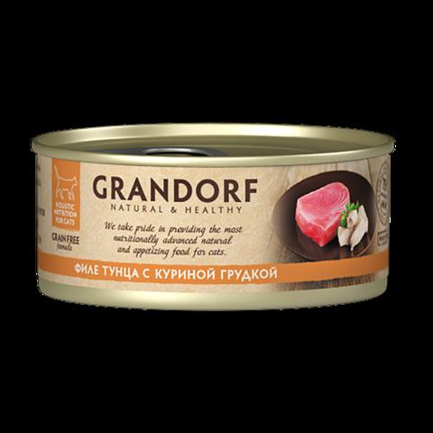 Grandorf Tuna with Chicken in Broth Консервы для кошек Филе тунца с куриной грудкой
