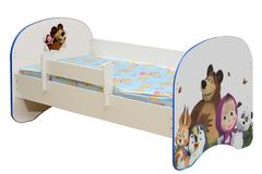 Кровать детская с фотопечатью Маша и Медведь 003