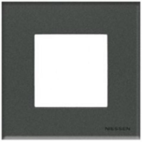 Рамка на 1 пост. Цвет Стекло графит. ABB(АББ). Niessen Zenit(Ниссен Зенит). N2271 CF