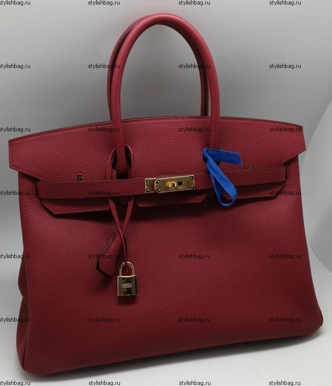 Женская сумка из кожи того Hermes Birkin 35 maroon