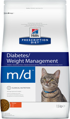 Ветеринарный корм для кошек Hill`s Prescription Diet m/d, при диабете/лишнем весе, с курицей