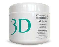 Пилинг с папаином и экстрактом виноградных косточек NATURAL PEEL, Medical Collagene 3D