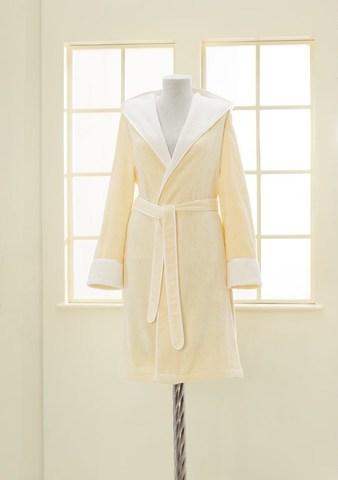 NEHİR - НЕГИР желтый бамбуковый женский халат Soft Cotton (Турция)