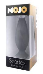Маленькая черная анальная пробка Mojo - 10 см.