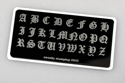 Пластина Swanky Stamping №43