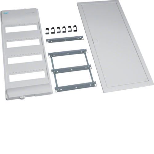 Съемный пакет,Volta,комплект без основания и QC, для наборных клемм на DIN рейку, 4-рядного, RAL9010