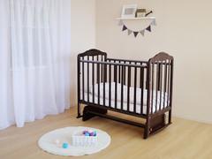 Кровать детская Берёзка (автостенка.,маятник,накладка ПВХ)