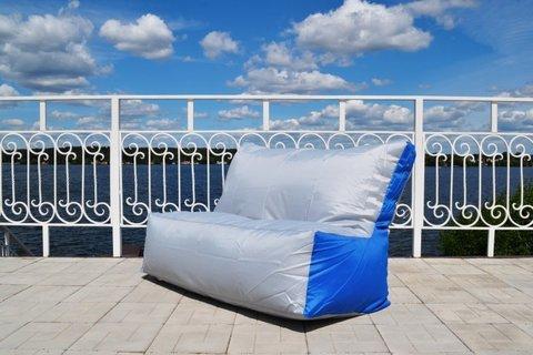 Кресло-мешок «Диван» Серо-синий
