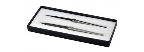 Набор из 2 столовых ножей «Cyril Lignac», Forge de Laguiole, дизайн Jean-Michel WILMOTTET2 LW 2