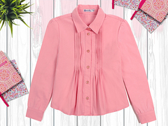 OP292Р-3 рубашка для девочки, розовая