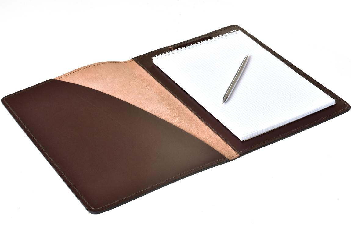 Папка под Блокнот А4 BUVARDO PREMIUM из кожи  Full Grain Brown/Cuoietto черный