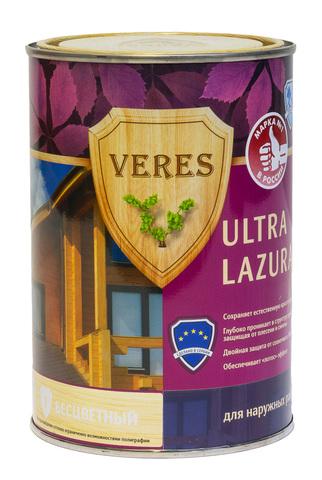 VERES ULTRA LAZURA/ВЕРЕС УЛЬТРА ЛАЗУРЬ шелковисто-глянцевая декоративно-защитная пропитка для древесины