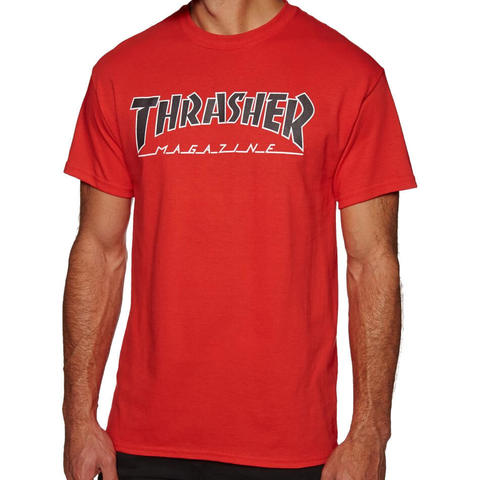 Футболка THRASHER Outlined (Red)