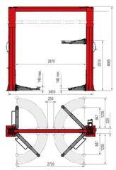 Подъёмник двухстоечный электрогидравлический BUTLER Hidros 70 42k