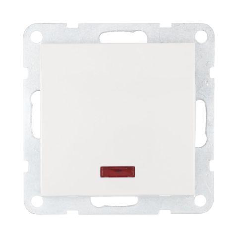 Выключатель одноклавишный, c индикатором (схема 1L) 16 A, 250 В~. Цвет Белый. LK Studio LK60 (ЛК Студио ЛК60). 860204
